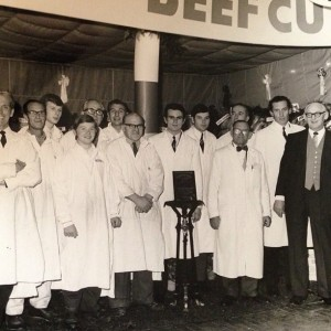 Butcher's daughter. My dad in 1968 the centenary at Smithfield market, London, England.