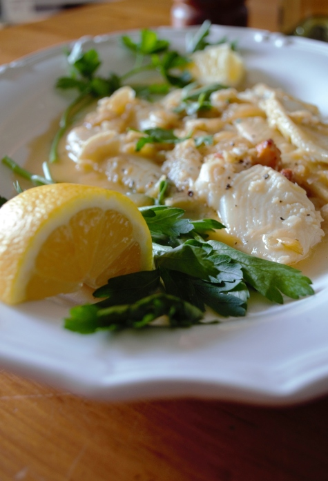 french-inspired fish dish