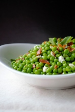 https://milkandmarigolds.com/2014/04/09/sweet-peas-with-crisp-prosciutto-fresh-mint-feta/