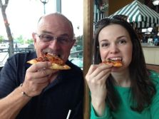 pizza with dad