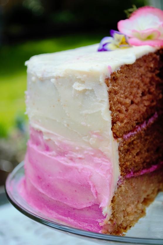 ombre cake gluten-free