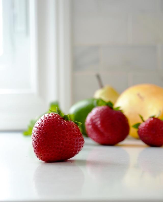 strawberries fruit salsa foodstyling