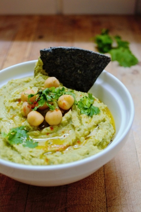 avocado hummus. vegan