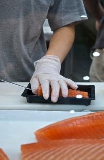 My salmon sashimi order