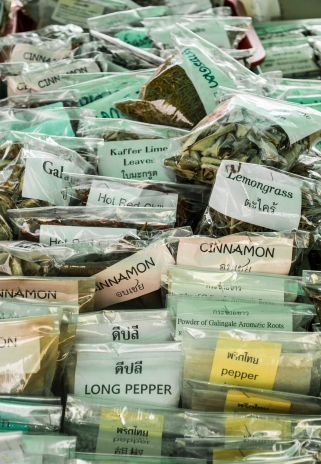 herbs in thai market