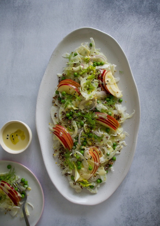 fennel and apple salad, shaved salad, gluten free and dairy-free