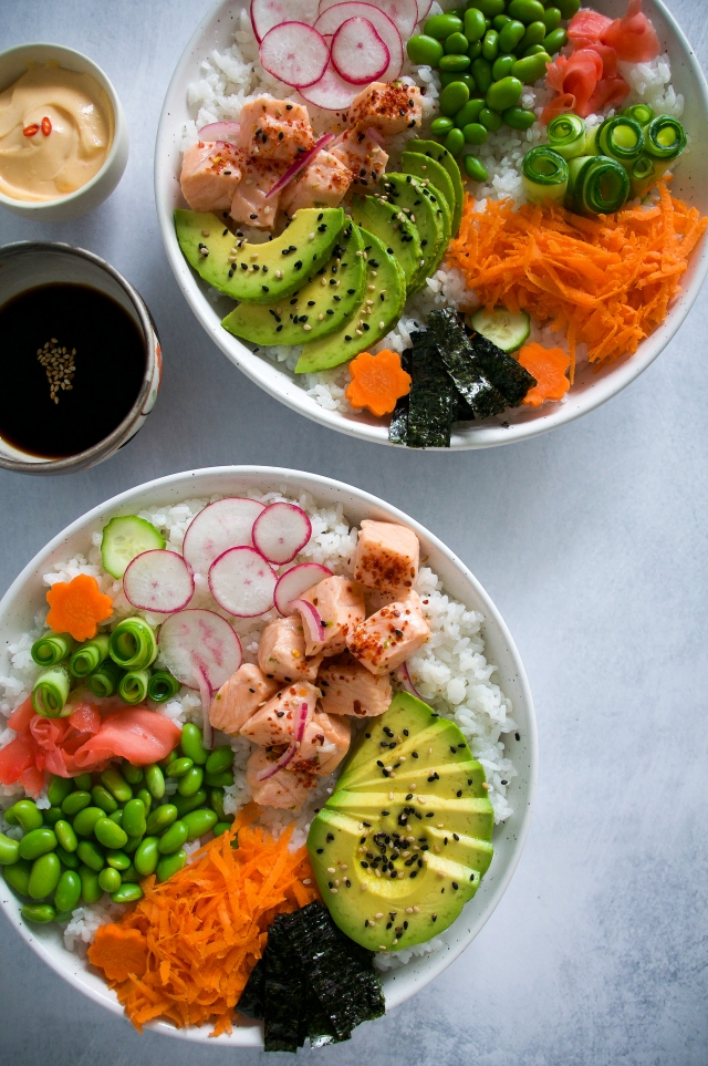 sushi bowl by milkandmarigolds.com