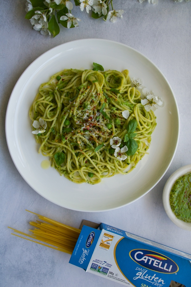 pesto with catelli glutenfree pasta
