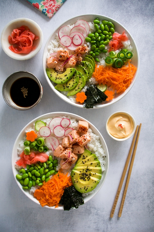 Salmon Ceviche Sushi Bowl