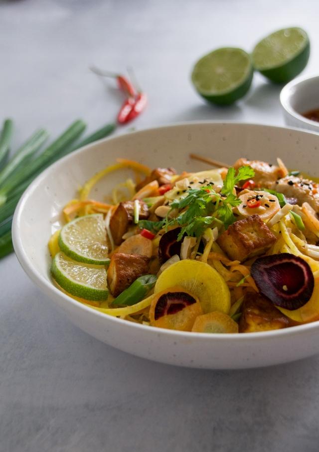 carrot noodles (milkandmarigolds.com)
